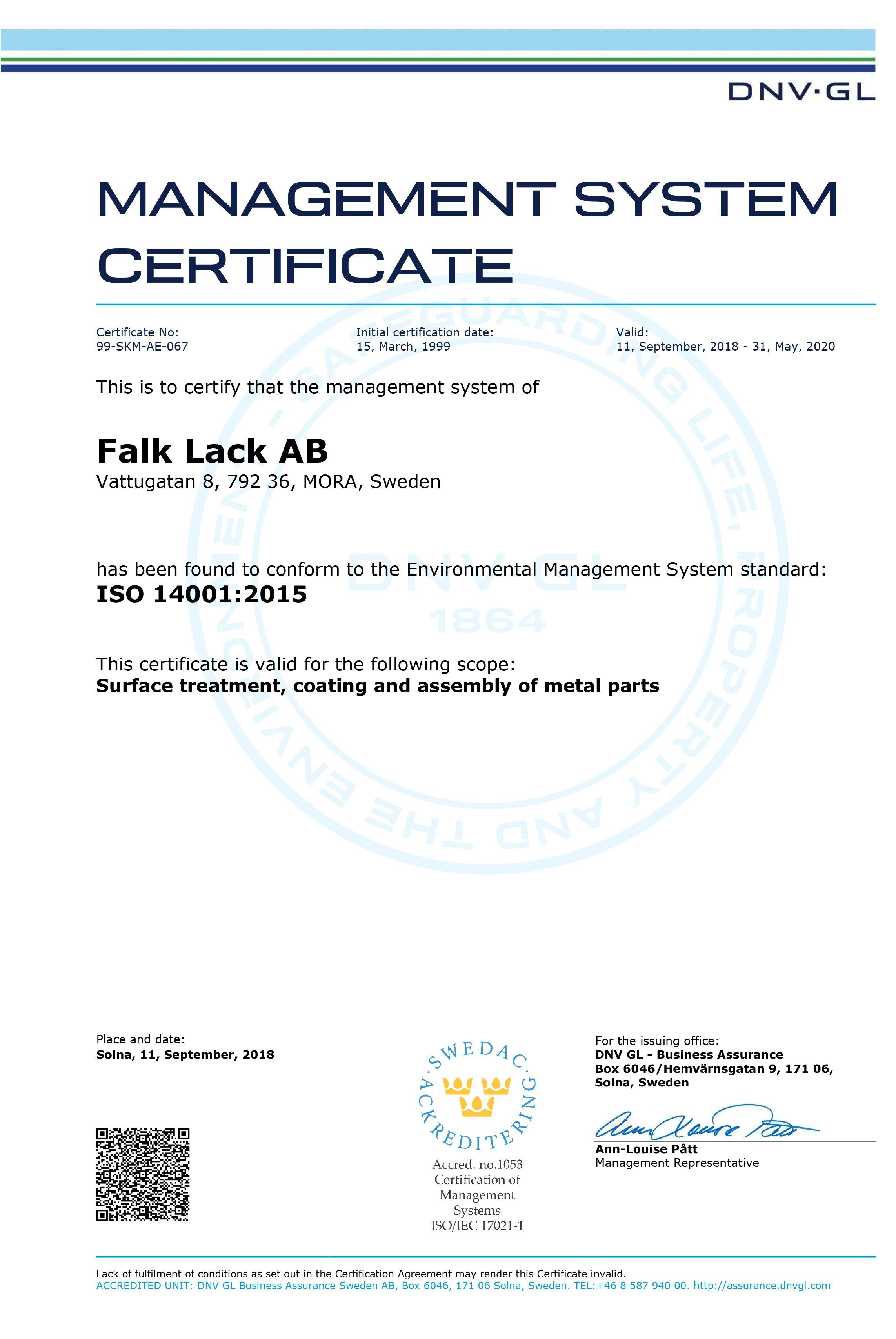 Microsoft Word - Falk Lack AB eng 14001